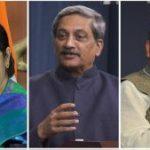 सुषमा स्वराज, अरुण जेटली और मनोहर पर्रिकर